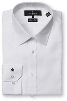 Jeff Banks Black Label White Textured Solid Slim Fit
