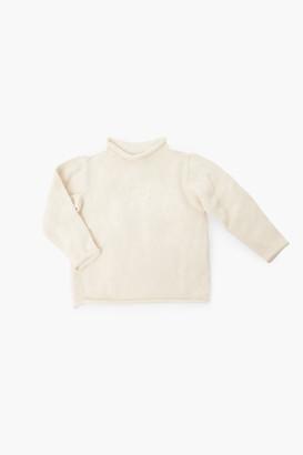 A Soft Idea Light Blue Roll Neck Sweater