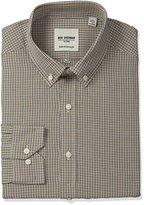 Ben Sherman Men's Skinny Fit Dobby Check Button Down Collar Dress Shirt