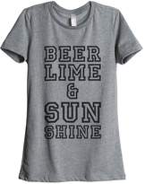 Thread Tank Beer Lime Sunshine Womens Relaxed T-Shirt Tee - 2XL