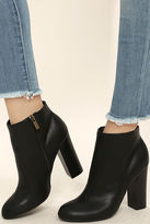 Bamboo Molly Black High Heel Ankle Booties