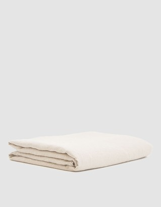 Hawkins New York King Size Simple Linen Flat Sheet in Petal