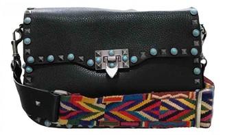Valentino Guitar Rockstud Black Leather Handbags