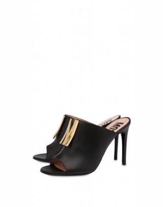 Moschino M Calfskin High Sandals