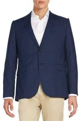 Armani Collezioni Plaid Wool Jacket