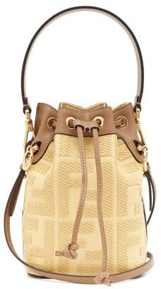 Fendi Mon Tresor Mini Logo-jacquard Canvas Bucket Bag - Yellow Multi