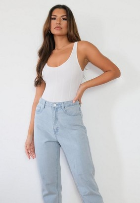 Missguided Ivory Bandage Scoop Neck Bodysuit