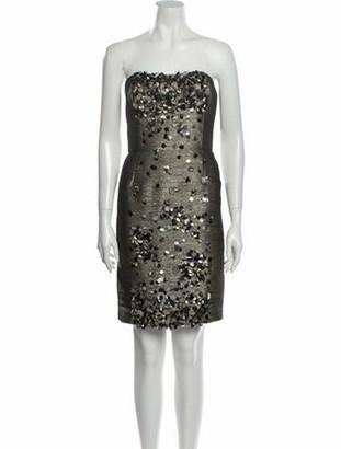 Oscar de la Renta 2010 Mini Dress Grey