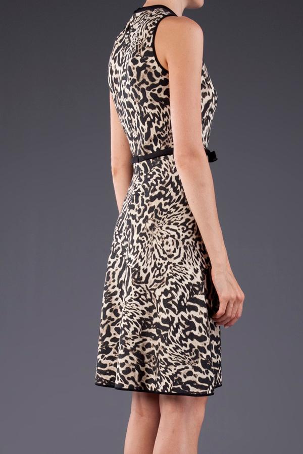 Giambattista Valli Leopard Print Dress