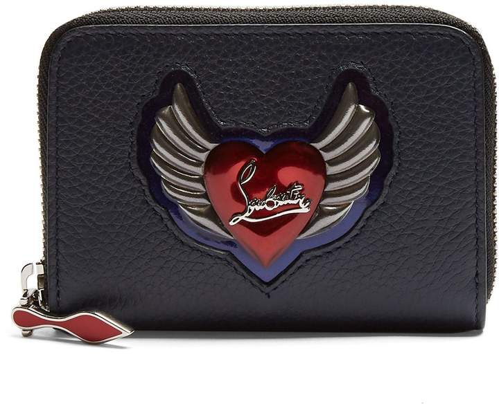 Christian Louboutin Panettone heart-embellished leather coin purse