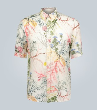 Alexander McQueen Glowing Botanical print short-sleeved shirt