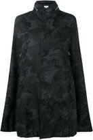 Vis A Vis - camouflage cape coat - women - Linen/Flax - II