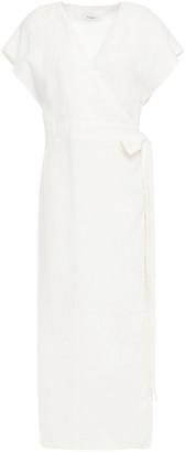 Marysia Swim Linen Midi Wrap Dress