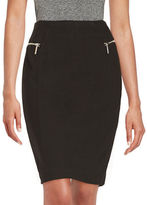 MICHAEL Michael Kors Zipper Accented Pencil Skirt