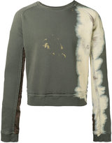 Haider Ackermann bleached trim sweatshirt - men - Cotton - S