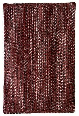 "Gracie Oaks Team Spirit Vertical Stripe Rectangle Braided Rugs - Maroon Black Rug Size: Rectangle 9' 2"" x 13' 2"""