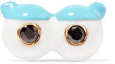 Alison Lou + Hasbro Eyes With Lid And Lashes Enamel, Diamond And 14-karat Gold Earring - Bright blue