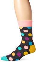 Happy Socks Men's 1pk Unisex Combed Cotton Crew-Pastel Big Dot