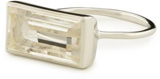 clear Adore Adorn Jewelry Gloria Ring Quartz & Rhodium