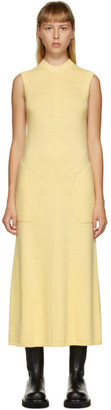 Peter Do SSENSE Exclusive Yellow Knit Sleeveless Dress
