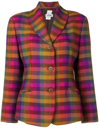 Missoni Pre Owned Single Breasted Check Blazer