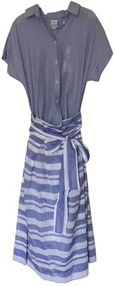 Sara Roka Blue Cotton Dress for Women