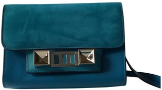 Proenza Schouler PS11 Turquoise Leather Clutch bags