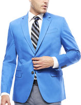 Jf J.Ferrar JF Cotton Cobalt Sport Coat - Slim Fit
