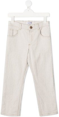 BRUNELLO CUCINELLI KIDS Slim-Fit Washed Jeans