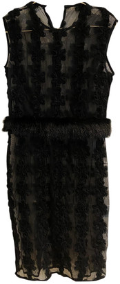Shrimps Black Synthetic Dresses