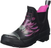 Joules Womens Wellibob Floral Black Floral Synthetic Boots 7 US