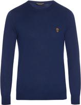 Alexander McQueen Skull-appliqué crew-neck cashmere sweater