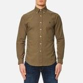 Polo Ralph Lauren Men's Garment Overdye Slim Fit Shirt Olive