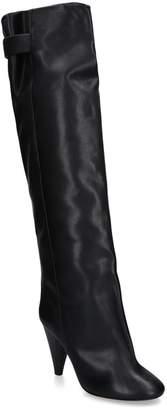 Isabel Marant Leather Lacine Knee-High Heeled Boots 90