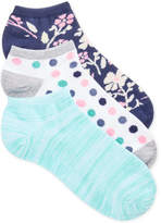 Charter Club Women's 3-Pk. Floral No-Show Socks, Only at Macy's