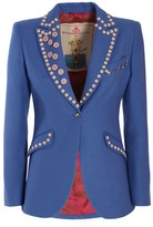 The Extreme Collection Blue Buttoned Blazer Ebere