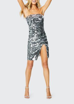 Ramy Brook Kyler Strapless Sequined Short Cocktail Dress