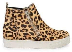 Steve Madden Leopard-Print Calf Hair Shoes