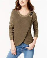 INC International Concepts I.N.C. Surplice Sweater, Created for Macy's
