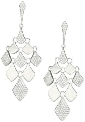 Adriana Orsini Zena Rhodium-Plated Sterling Silver & Cubic Zirconia Kite Drop Earrings