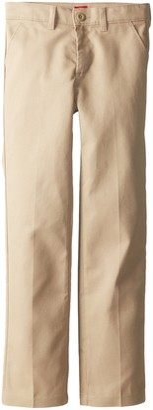Dickies Big Girls' Slim Stretch Flat Front Pant