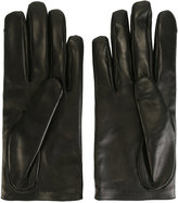 Gucci star and feline head motif gloves - women - Lamb Skin/Cashmere - 7.5