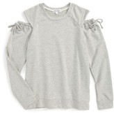 Ten Sixty Sherman Girl's Cold Shoulder Sweatshirt