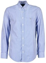 Gant THE POPLIN BANKER STRIPE MARINE / White