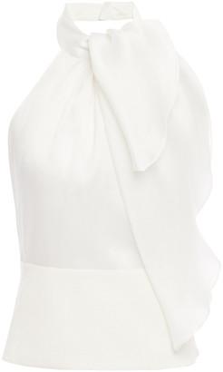 Giorgio Armani Open-back Draped Mulberry Silk Top
