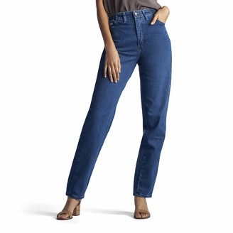 Lee Women's Missy Relaxed-Fit Side Elastic Tapered-Leg Jean