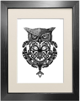 Emily Carter 'The Owl & Pocket Watch' Fine Art Print A4