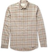 Folk - Checked Cotton And Wool-blend Shirt