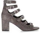 Saint Laurent Babies buckle-strap brushed-suede sandals