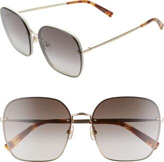 Rebecca Minkoff Gloria3 60mm Square Sunglasses